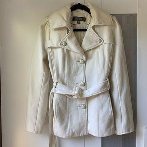Kenneth Cole off white Pea coat